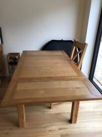 Extendable oak kitchen table
