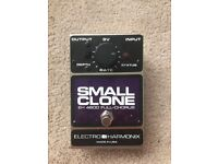 Electro Harmonix Small Clone Chorus effects pedal