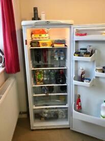 Larder fridge and chest freezer