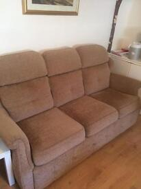 3 seater and arm chair . GREAT condition . Lowered to 150 to get rid