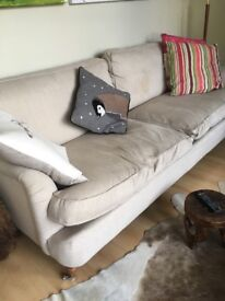 Beautiful cream colour sofa £100 or ONO