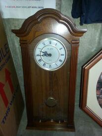 Wm widdop est 1883 quartz wall mounted clock all in good working order