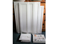 NEW ENGLAND TALLBOY BATHROOM CABINET - WHITE h172xw30xd24cm Self Assembly instructions included-NEW