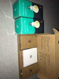 HIVE Hub starter kit plus x2 bulbs