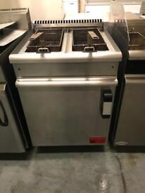 Commercial gas fryer double tank with double basket catering restaurant hotel pubs takeaway