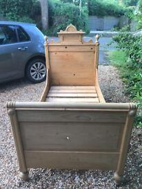 Dutch antique single box bed