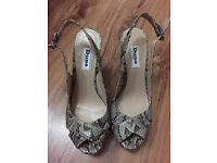 NEW DUNE LADIES SNAKE WEDGE SANDALS SHOES SIZE 5
