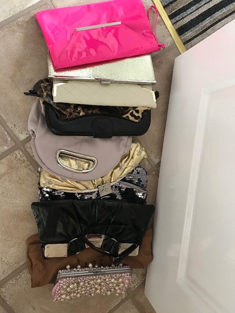 Mixed bag of women's clutch bags