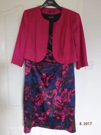 Alexon size 16 ladies dress with matching jacket top
