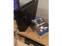 Playstation 4 with 9 Games BOXED