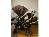 I candy peach single/twin pram