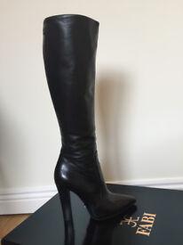 Women's Fabi Boots Italian, black, original leather, size EU 35, UK 3