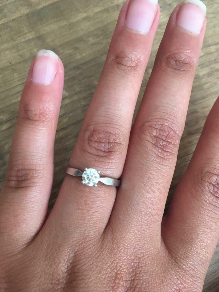 Engagement ring. Canadian Ice diamond platinum. | in Swansea | Gumtree
