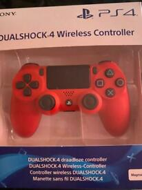 (red) Ps4 controller
