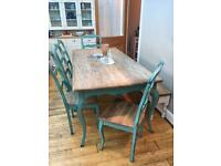Coachhouse 6ft Dining Table and Chairs - Shabby Chic
