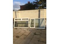 Used window frame with double glazing