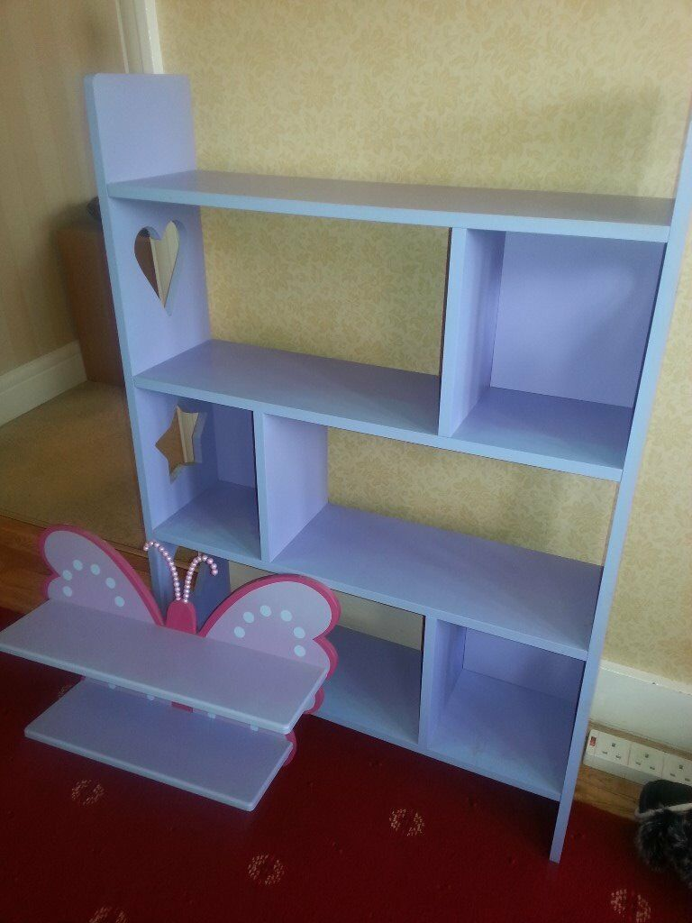 Girls purple bookcase originally from Next plus purple Butterfly shelf