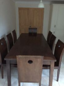 Hand made 8 seater dining table in Cambodian Mahogany