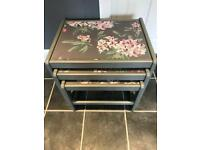 MID CENTURY NEST OF THREE COFFEE TABLES FARROW & BALL LAURA ASHLEY ADELINE GREY