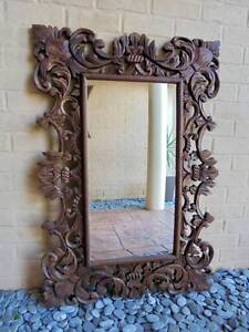 Carved 1.2m high Wooden Ornate French Provincial Mirror Rothwell Redcliffe Area Preview