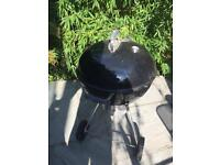 Large Weber BBQ with cover and pizza attachment