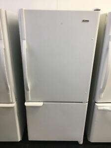 ECONOPLUS LIQUIDATION SALE ON A  SELECTION OF WHITE FRIDGES WITH BOTTOM FREEZER  FROM  499.99 $ TX INCL