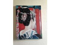 Woman in Kimono/Geisha/Japanese Painting