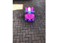 Girls Pink Electric Quad Bike - Very Good Condition