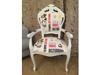 French Louis Style armchair ' the secret life of pets ' fabric