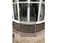 Solid wrought iron garden gate