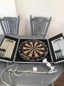Dart Board in a case with darts