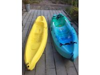 2 Ocean Kayaks, 1 x FRENZY & 1 KEA Complete with paddles & buoyancy aids. Ready for the summer!