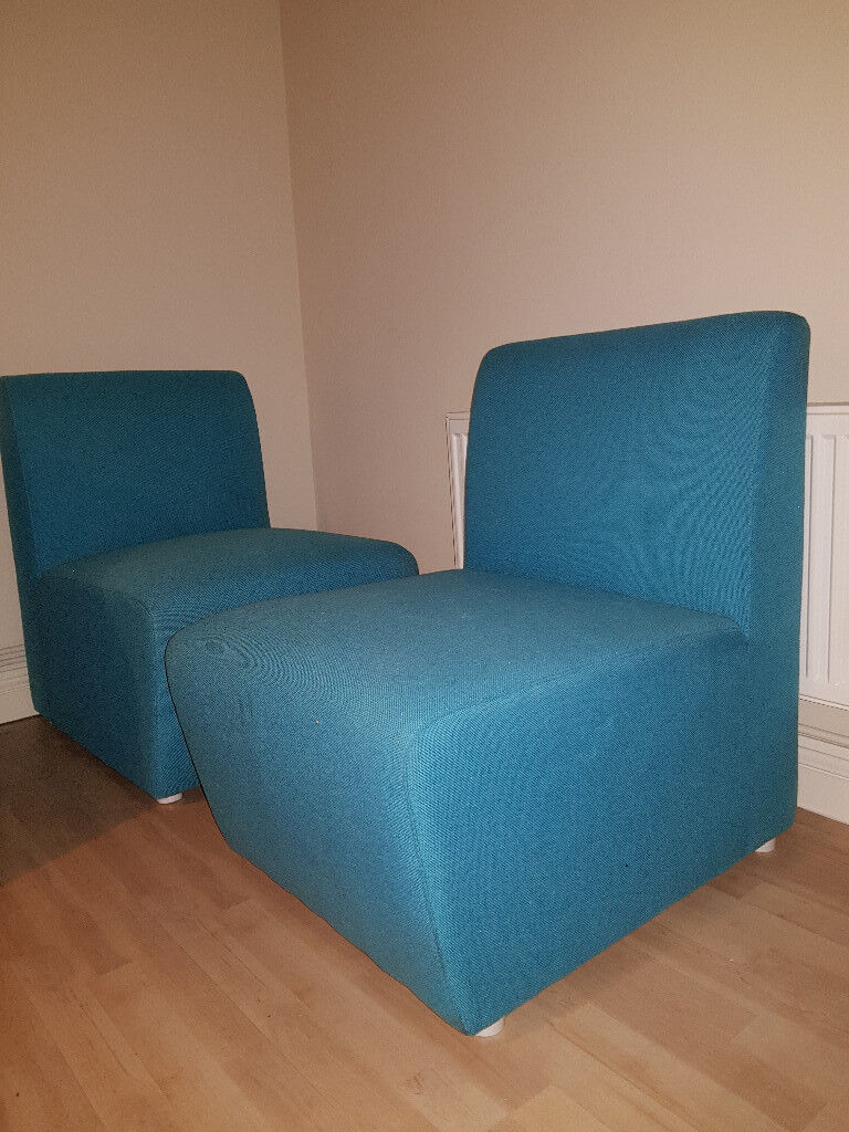 Three Modular Chairs for sale because they don't fit our colour scheme for our house