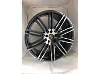 "Brand new set of 22"" alloy wheels Porsche Audi"