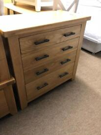 Ex-display*** Solid oak chest of drawers