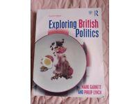 Exploring British Politics by Mark Garnett and Philip Lynch 4th ed.