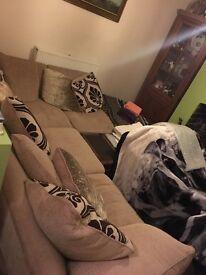 Excellent condition right hand corner sofa