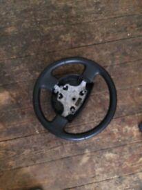 Leather steering wheel Fiesta o5