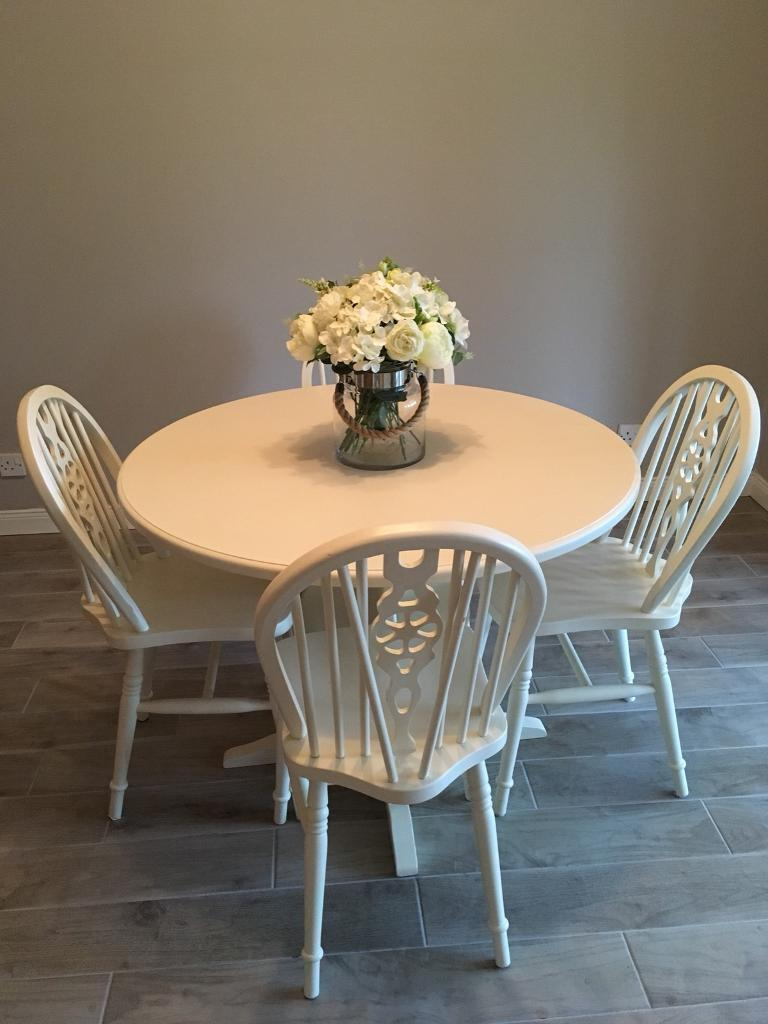 round wooden kitchen table  4 chairs  in newtownards
