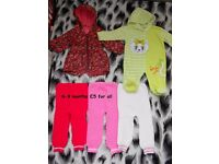 Baby girl warm clothes 6-9m