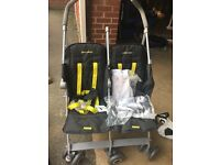 Mclaren Techno Double Stroller/Buggy - Brand new