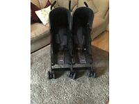 Obaby double pushchair with cosy toes