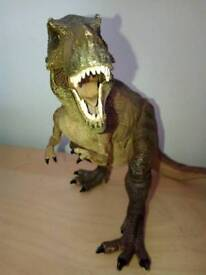 Schleich articulated moving jaw dinosaur replicas to scale figures
