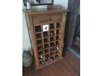 Wine Rack from Mango wood