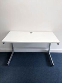 FREE SAME-DAY DELIVERY - White Cantilever Office Desk 1200mm by 600mm