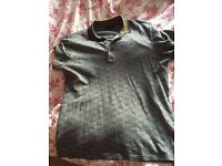 GUCCI MONOGRAMMED POLO T SHIRT (LARGE) - 100% AUTHENTIC