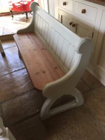 Pair of church pews / benches