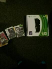XBox 360 250gb with games Inc Red Dead and Call Of Duty boxed