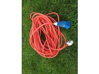 25m extension lead hook up - std main plug / campervan plug