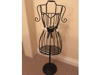 Vintage style metal bodice jewellery/scarf stand